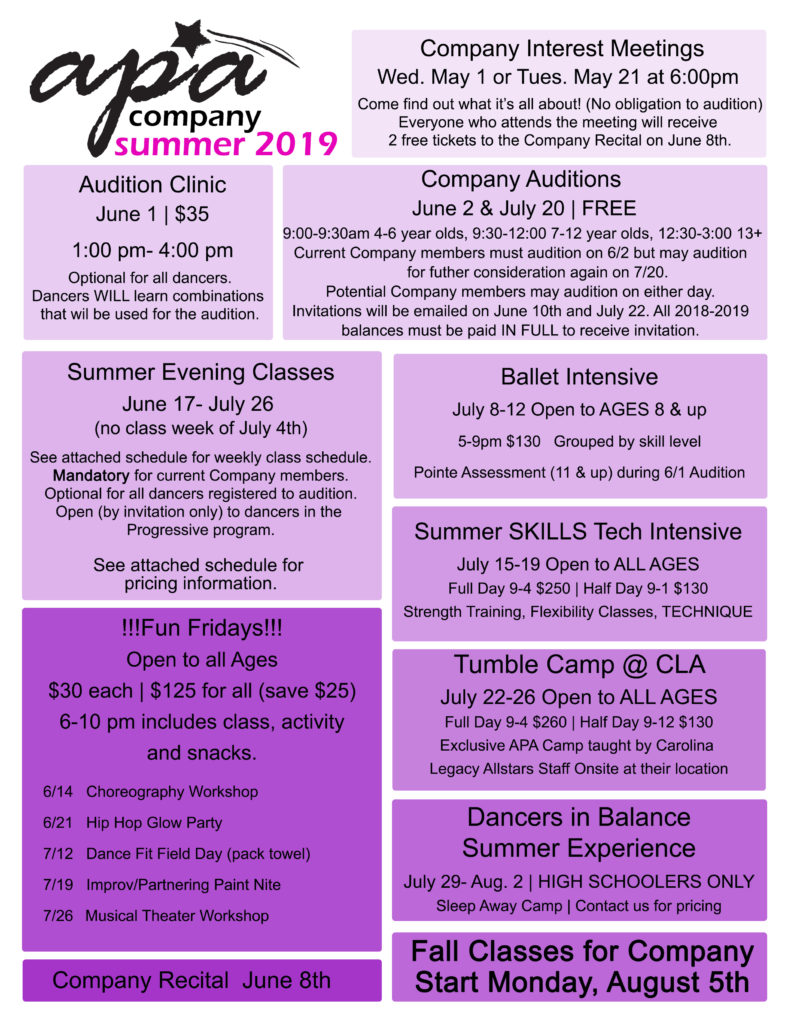 Advanced Summer Opportunities | Academy for Performing